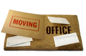 Moving Office, Changing Address, Doormat, with Clip Path. Isolated on White